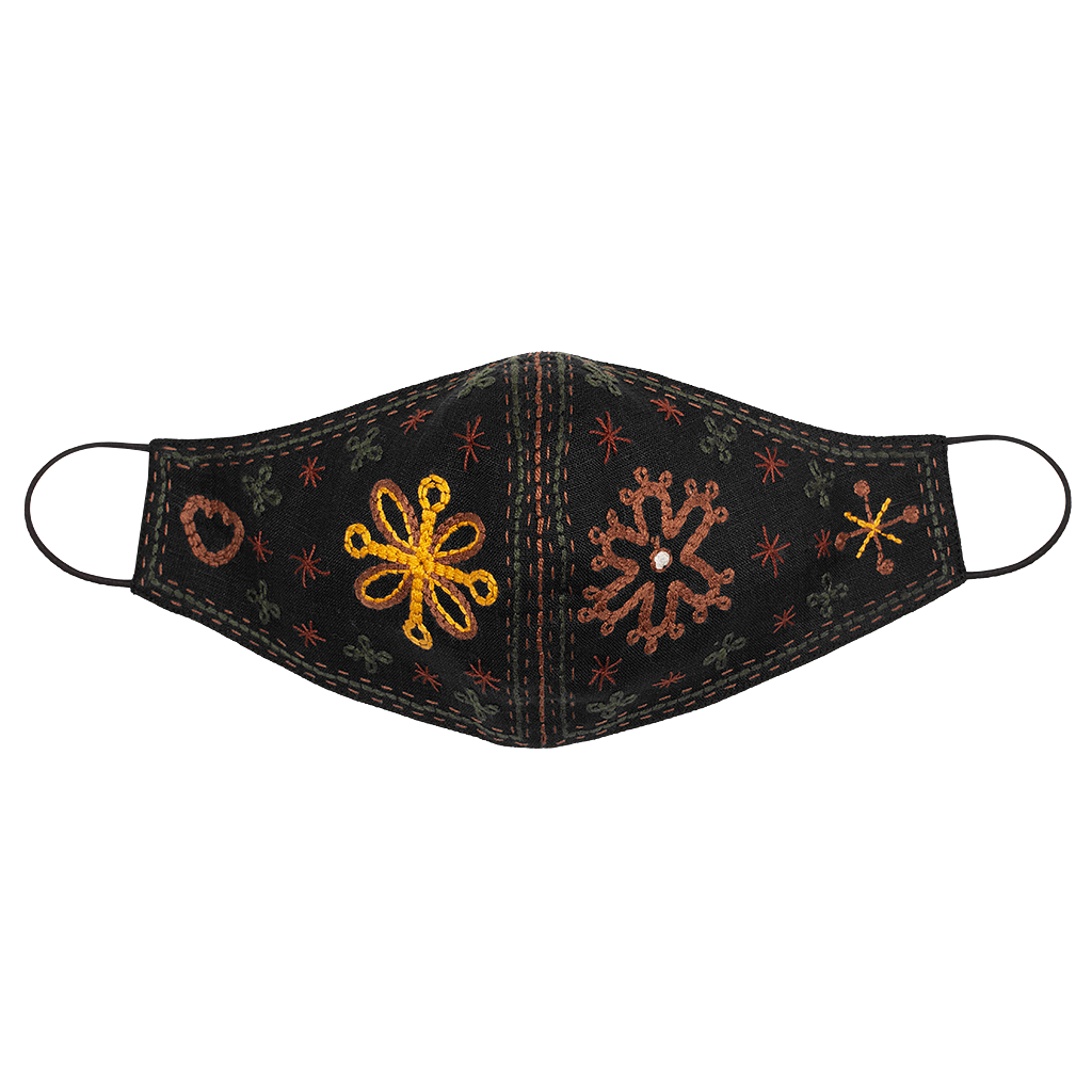 Camomiles Embroidered Face Mask