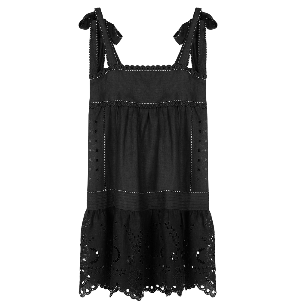 Charlotte Pleated Short Sundress