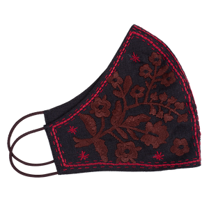 Boucle Embroidered Face Mask