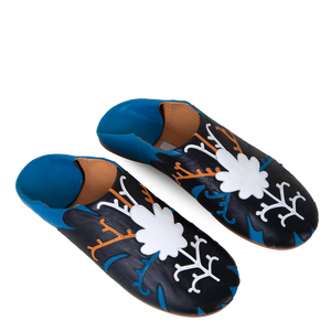 Babouche Slippers with Appliqué