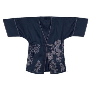 Dancing Herons Kimono Mini Dress