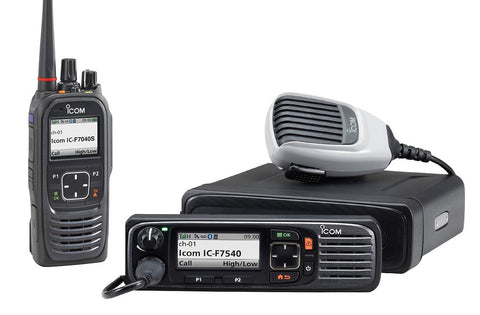 Icom P25 DTRS-qualified portable and mobile radios