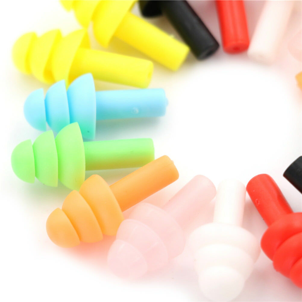10 Pairs Silicone Ear Plugs Sound Insulation Ear Protector Anti Noise Snore Comfortable Sleeping Earplugs For Noise Reduction