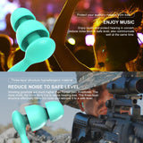 2 Pairs/Pack Anti-Noise Ear Plug Sound Insulation Ear Protection Earplugs Sleeping Plugs Waterproof Silicone Swim Earplugs Soft