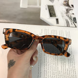 2021 New Women Rectangle Vintage Sunglasses Brand Designer Retro Points Sun Glasses Female Lady Eyeglass Cat Eye Driver Goggles