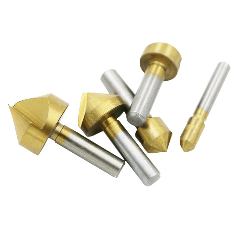 Metric/Imperial Single Edge Chamfering Tool Countersink Drill Wood Reverse Taper Hole Screw Countersink Bit