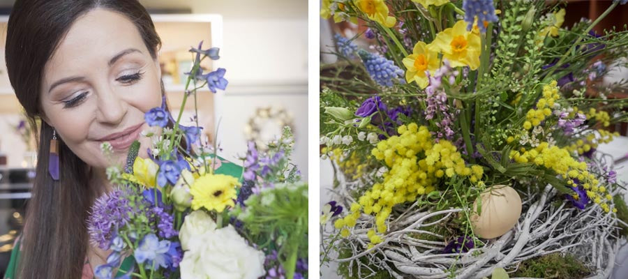 Catherine Fulvio visits Floral Art to learn how to arrange Easter floral display