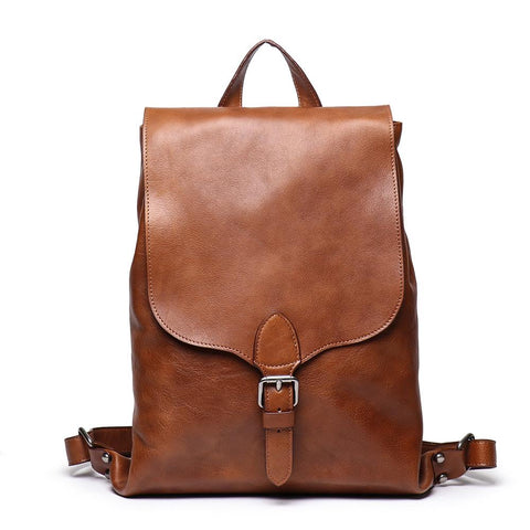 Retro Persoanal Design Leather Backpack L9019