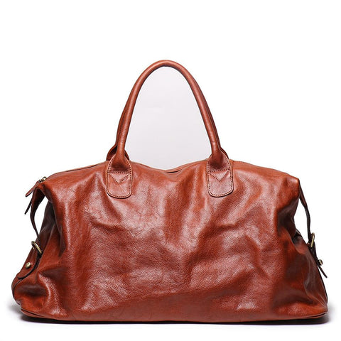 Men's Handmade Leather Large Capacity Travelling Bags L9059