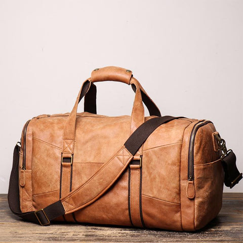 Men's Leather Duffle Bags for Travelling L1219-1