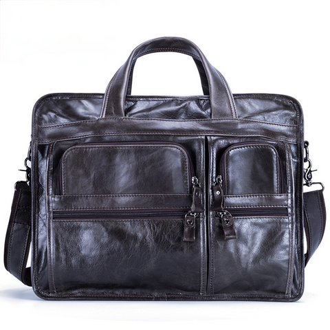 Men's Handmade Leather Business Briefcase B9913