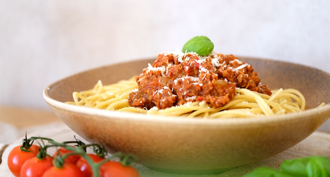 spaghetti with easy mix mince