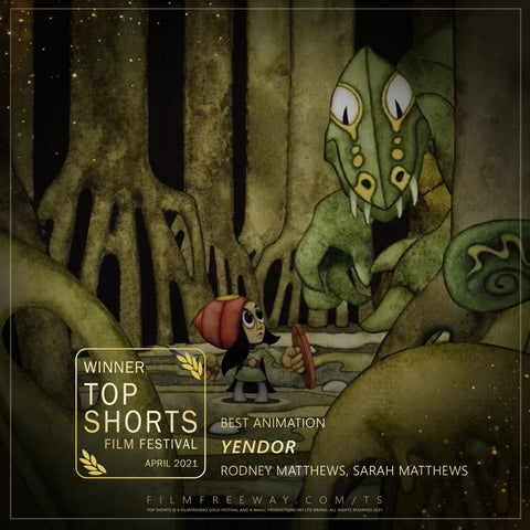 Yendor wins Best Animation at the Top Shorts Film Festival
