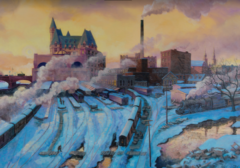 Midwinter Weekday from the Laurier Bridge: 1928/Ottawa en hiver vu du pont Laurier : 1928