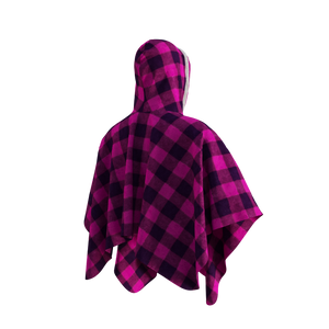 Pook Poncho - Adult Pink Polar Fleece w/ Snap Fastners