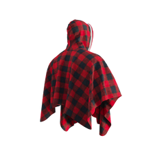 Load image into Gallery viewer, Pook Poncho - Adult Red Polar Fleece w/ Snap Fastners