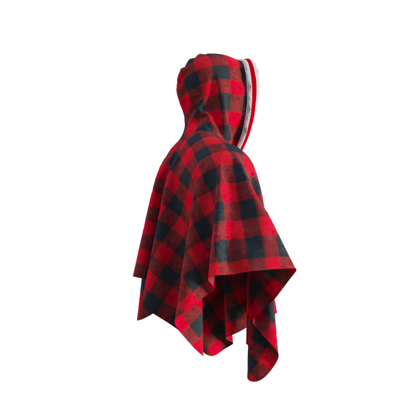 Pook Poncho - Adult Red Polar Fleece w/ Snap Fastners