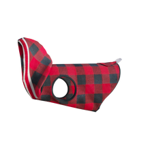 Load image into Gallery viewer, Pook Pooch Hoodie - Red Polar Fleece