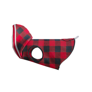 Pook Pooch Hoodie - Red Polar Fleece