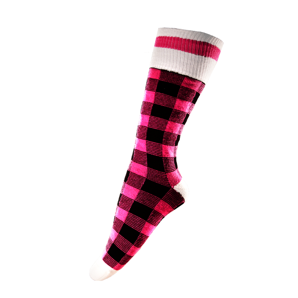 Pink Plaid Socks