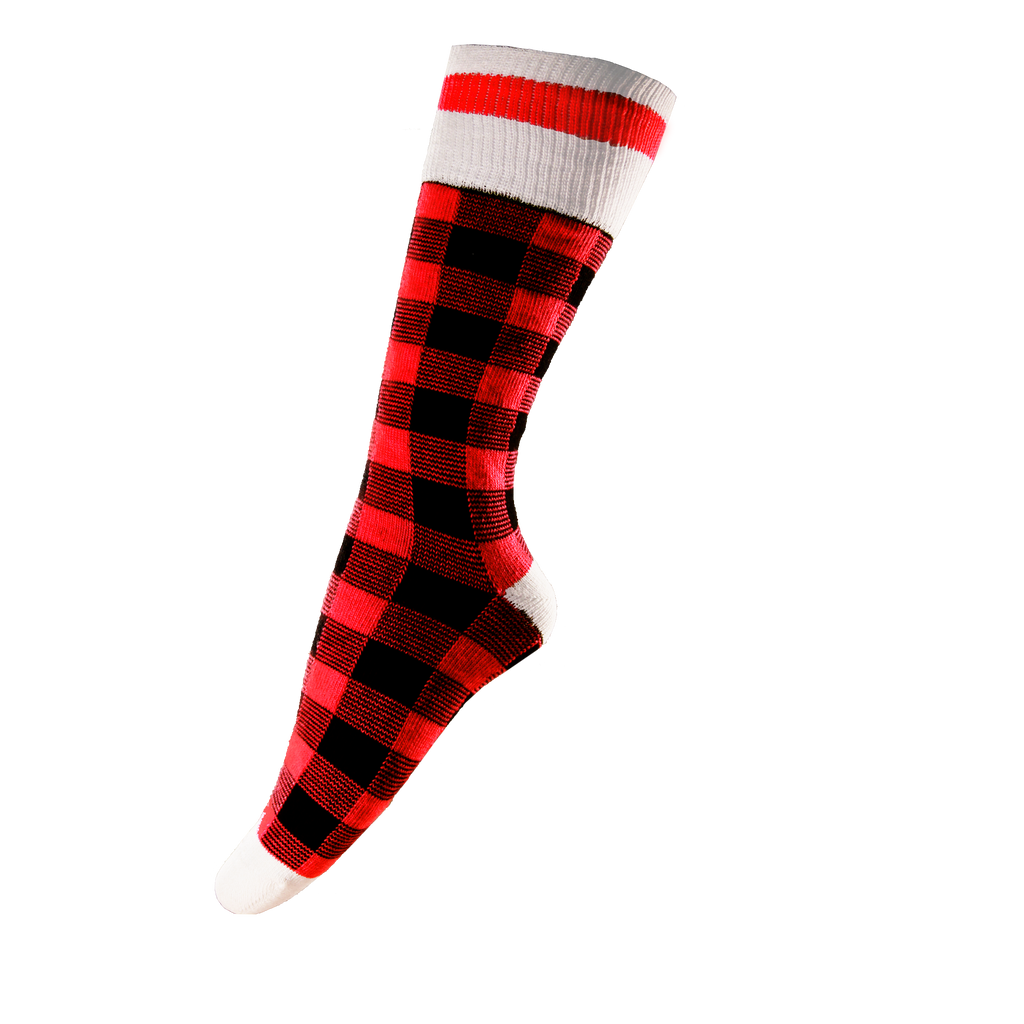 Red Plaid Socks