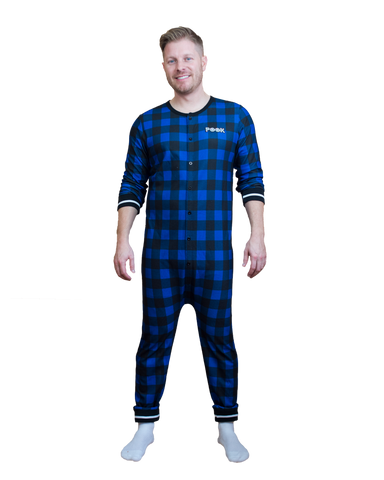 Pook (Blue Plaid) Union Suit