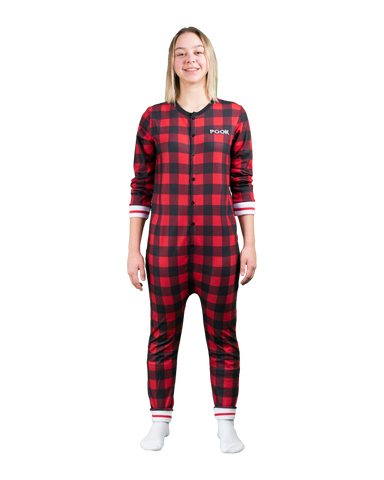POOK (Red Plaid) Union Suit