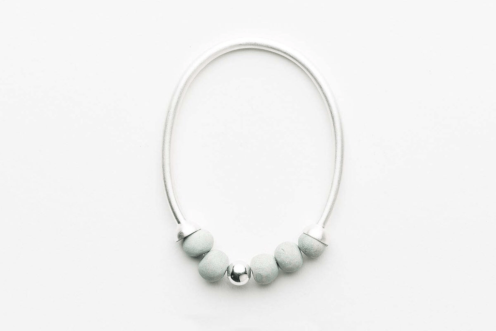 Jewellery - Klaylife | dalilah bracelet | small | pale seaspray,silver - mondocherry