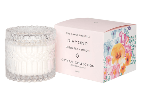 Mrs Darcy candle (Diamond) Green tea and melons-candle-Mrs Darcy-mondocherry
