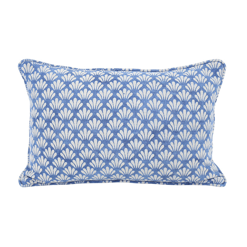Walter G Hakuro Indigo Cotton Cushion 35x55cm