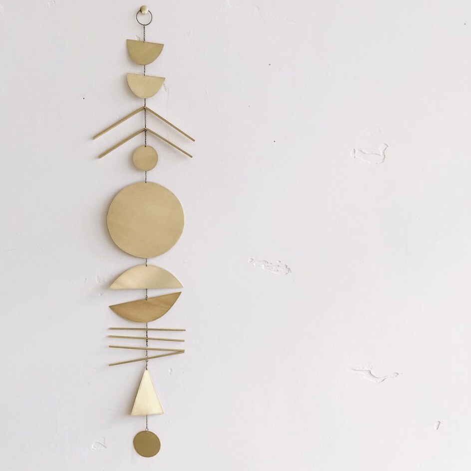 Arine brass wall hanging-decorative-Electric sun creatives-mondocherry