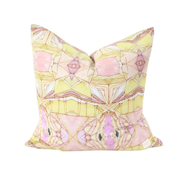 Bunglo Golden Lotus cushion-cushion-Bunglo-mondocherry