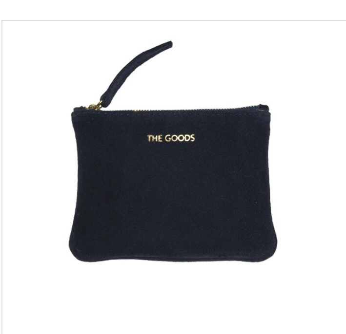 purse - The Goods | mini suede clutch | navy - mondocherry