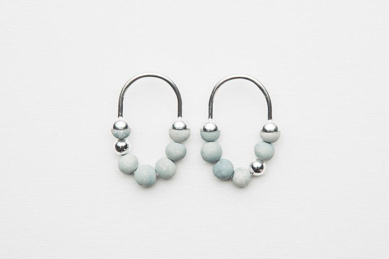 Jewellery - Klaylife | zola earrings pale | seaspray,silver - mondocherry