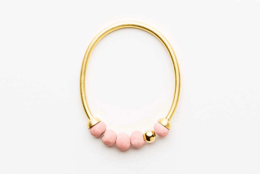 Jewellery - Klaylife | dalilah bracelet | medium | pink,gold - mondocherry
