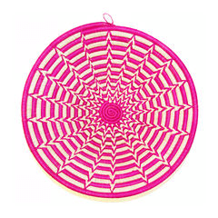 Couani Punda woven bowl medium pink -  - mondocherry - home : style : design
