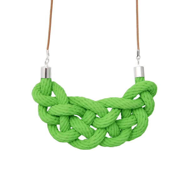 Crayon Chick celtic knot necklace green apple