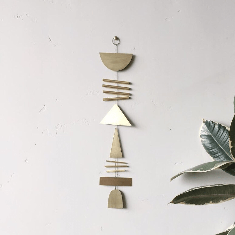 Apollo brass wall hanging