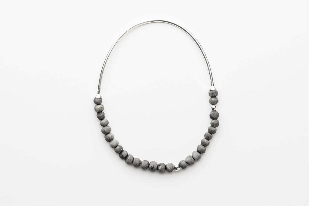 Jewellery - Klaylife | zoya necklace | charcoal,silver - mondocherry