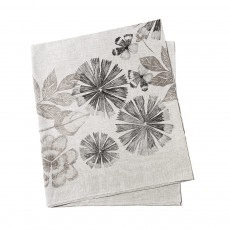 Bonnie and Neil Tablecloth - summer floral black