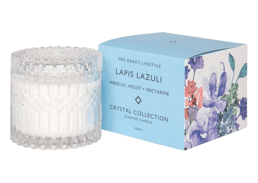 Mrs Darcy candle  - Lapis Lazuli - hibiscus, violet and nectarine