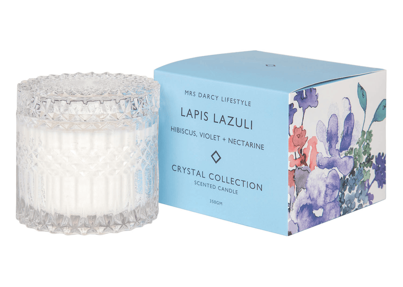 Mrs Darcy candle (Lapis Lazuli) - hibiscus, violet and nectarine-candle-Mrs Darcy-mondocherry
