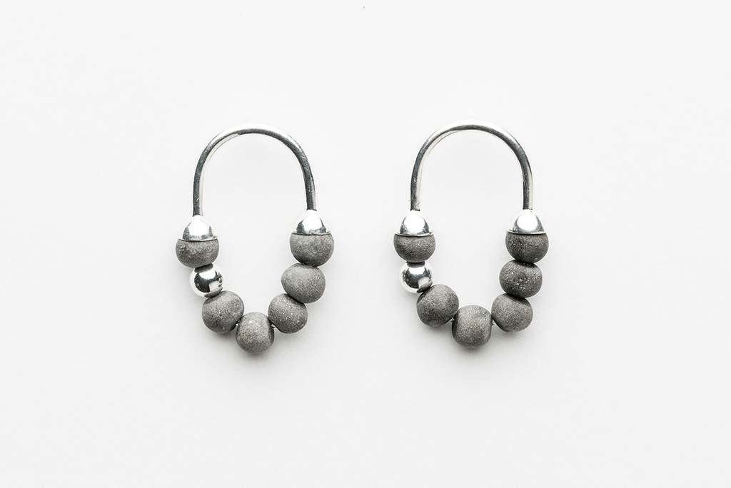Jewellery - Klaylife | zola earrings | charcoal,silver - mondocherry