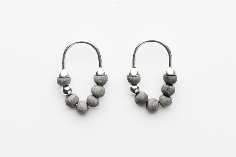 Wolf and Moon | corbero earrings | mother of pearl
