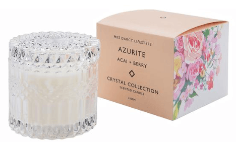 Mrs Darcy crystal collection candle (Azurite)-candle-Mrs Darcy-mondocherry