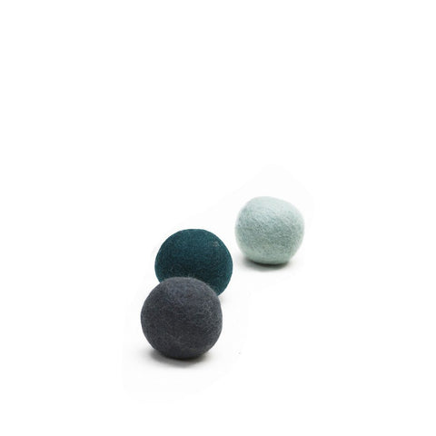 Muskhane felt balls (blues)-felt ball-muskhane-mondocherry