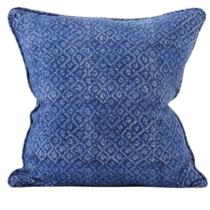 mondocherry homewares - Walter G Bandhini cushion (lapis)