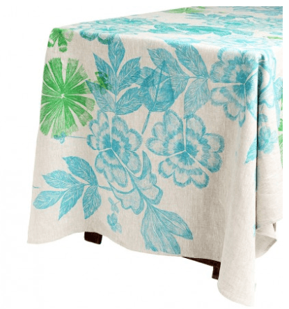 Bonnie and Neil tablecloth - summer floral green - 2