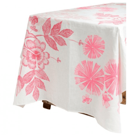Bonnie and Neil tablecloth - summer floral pink - 2