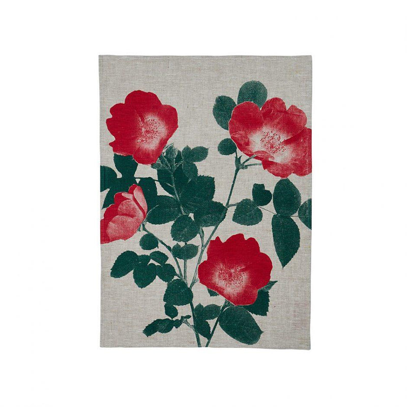 Bonnie and Neil | orchid teatowel | indigo